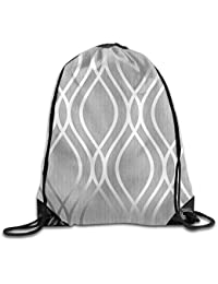 Gym Drawstring Bags Color Pattern Black Draw Rope Shopping Travel Backpack Tote Student Camping