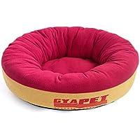 QJKai Perrera redonda mascota nido gato cama perro estera cuatro temporadas universal pequeño perro mascotas suministros