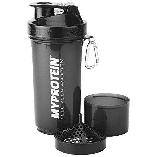 MyProtein Shaker Slim Botella Negra - 500 ml
