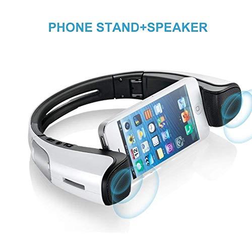 Meidong Altavoces con Soporte para teléfono Inteligente, Altavoces Bluetooth portátiles con Soporte...