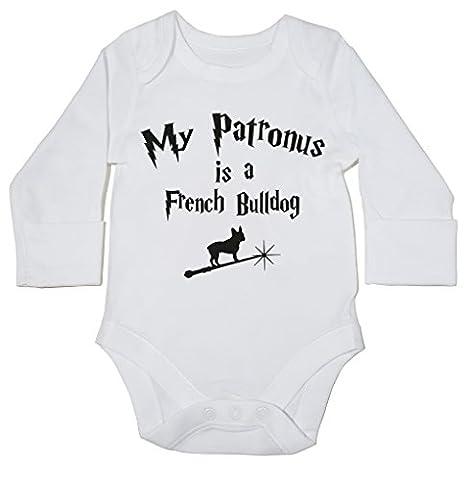 HippoWarehouse My Patronus Is A French Bulldog baby bodysuit (long sleeve) boys girls