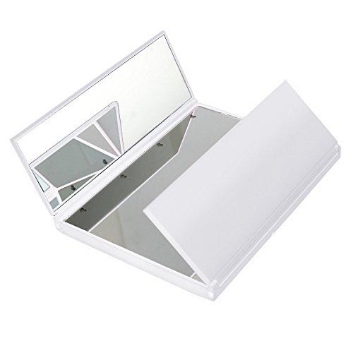 LED-Plegable-Espejo-HOMPO-8-LED-Espejo-de-Viajes-3-Pgina-Portable-Foldable-Espejo-Cosmtico