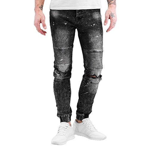 Sixth June Uomo Jeans / Jeans slim fit Destroyed Biker Denim