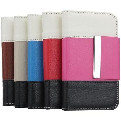 Costuras en color Ranura para tarjeta monedero de la cartera de la PU para el iPhone 4.