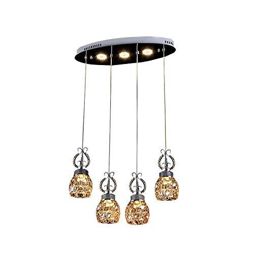 LIXDD Restaurant 3 Tier Kronleuchter, Moderne Kristalllampe Kronleuchter Runde Pendelleuchte Esszimmer Bar Tisch Elegante Minimalismus Küche Insel Esszimmer Bar Studie Wohnzimmer hängende Beleuchtung -