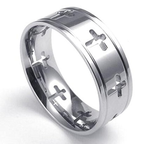 sierra-stainless-steel-mens-womens-cross-cut-out-praying-ring-size-y