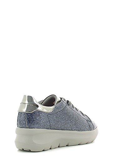 Fornarina PIFVH9545WIA9000 Sneakers Femme Cuir Synthetique Gris Bleu Marine