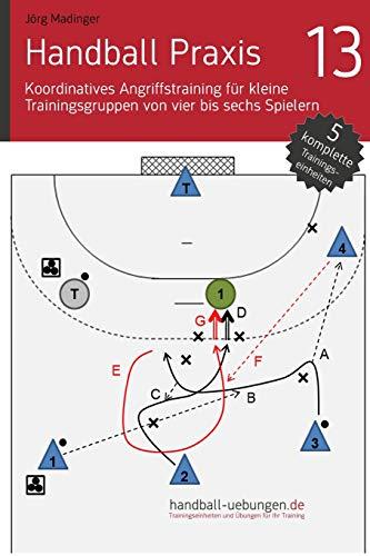 Handball Praxis 13 - Koordinatives Angriffstraining für kleine Trainingsgruppen von vier bis sechs Spielern