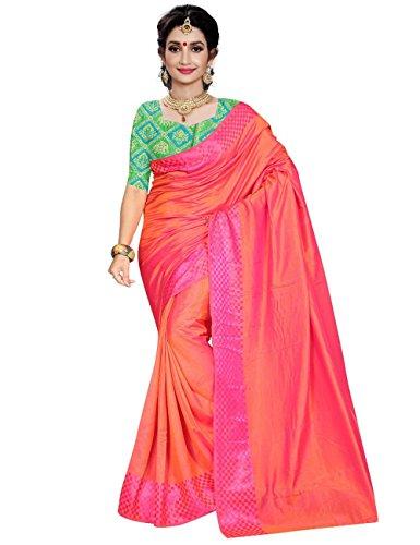 arars plain soft silk saree with contrast brocade blouse kanjivaram/kanchipuram style (241...