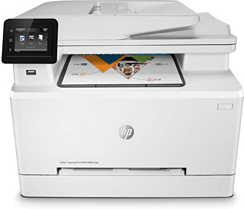 HP Color Laserjet Pro MFP M281fdw - Impresora multifunción láser (WiFi, fax, copiar, escanear, imprimir en color, 21ppm), color blanco