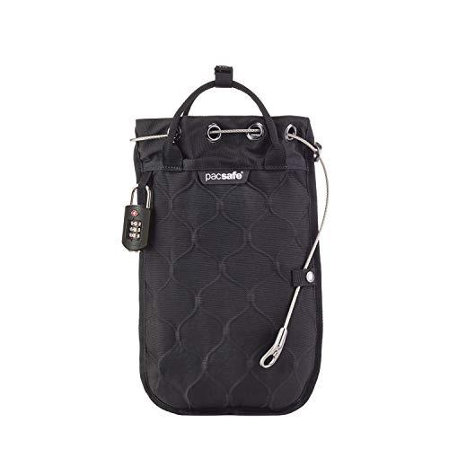 Pacsafe Travelsafe 3L GII - Mobiler Safe mit TSA-Zahlen Schloß, Trage-Tasche mit Anti-Diebstahl Technologie, 3 Liter Volumen, Schwarz/Black -
