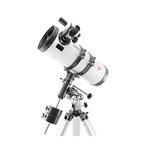 TS-Optics Teleskop Spiegelteleskop Komplettset für Einsteiger, Amateur-Astronomie mit ∅ 150 mm Spiegel / 1400 mm Brennweite, EQ3-1 Montierung, Stativ, Okulare, Mondfilter UVM. Megastar1550