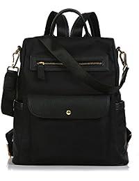 CherryKelly Sac à Dos pour Ordinateur Portable 15,6 Pouces Laptop Bag Casual Daypack Toile Porte-Documents Business Bag Tablet avec USB Port College/Voyage/Business
