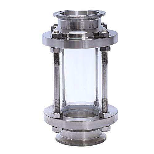 XZANTE Inline-Schauglas Mit Klemmende, Durchfluss Sanitär Schauglas Sus316 2 Zoll Tri Clamp Typ (Durchflussrohr Od 51Mm)