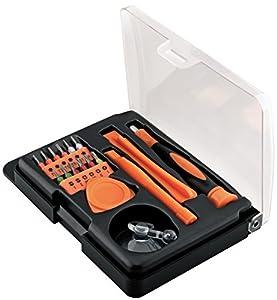 Fixpoint Smartphone Werkzeugset - 17-teilig zum Öffnen und zur Reparatur von Smartphone, Tablet, Laptop etc.