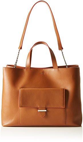 HUGO Damen Prisca-m 10193730 01 Tote, Braun (Light/Pastel Brown), One Size (Light-brown-leder-tasche)