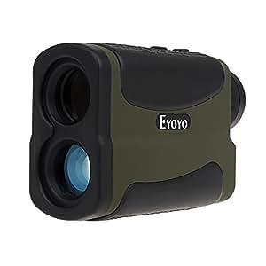 Eyoyo Télémètre Imperméable à l'eau 6 x Multifonction Télémètre de Golf avec Fonction télémétrie, Scan, mât Lock, brouillard et vitesse 5 ~ 700 Yd jumelle ( Vert d'armée )