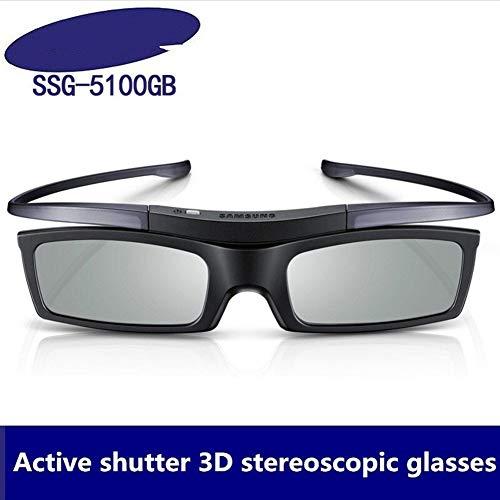 You will think of me Gafas para Gafas Oficiales 3D Originales ssg-5100GB Bluetooth 3D para Todas Las Series de TV 3D (Color : Black)