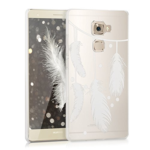 kwmobile Huawei Mate S Hülle - Handyhülle für Huawei Mate S - Handy Case in Weiß Transparent