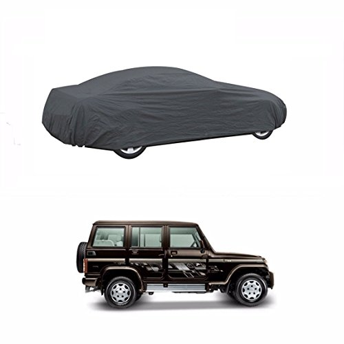 MotRoX Sporty Grey Car Body Cover For Mahindra Bolero (Tirpal & Triple Stiched)  available at amazon for Rs.949