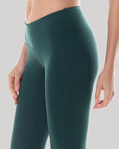 CRZ YOGA Femme Legging de Sprot Yoga Longueur Longs Poche de Clé Collant Running Vert foncé