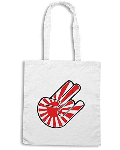 T-Shirtshock - Borsa Shopping TB0416 Shocker JDM Funny Mens Bianco