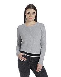 Vero Moda Womens Synthetic Pullover (196120204_Light Grey Melange_X-Small)