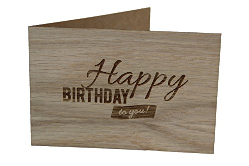 Holz-Glückwunschkarte Happy Birthday
