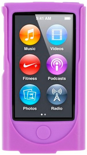 roocase-apple-ipod-nano-7-7th-generation-hybrid-silicone-case-with-detachable-holster-clip-purple
