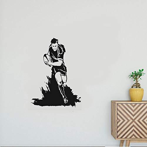 Wandaufkleber Kinderzimmer wandaufkleber 3d Rugby Fußball Rugby League Footy Team Sport Aufkleber Wandkunst Dekor für Wohnzimmer Schlafzimmer -