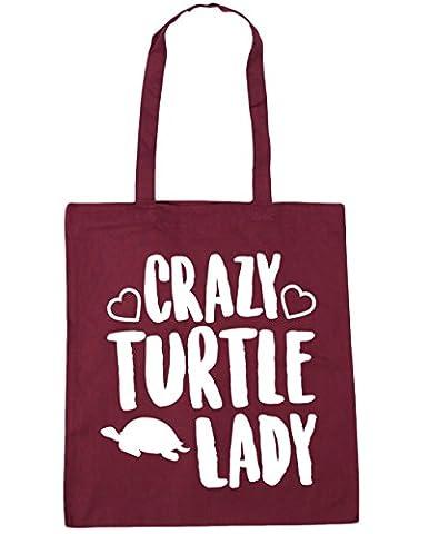 HippoWarehouse Crazy turtle lady Tote Shopping Gym Beach Bag 42cm x38cm, 10 litres