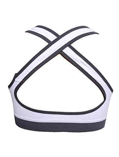 HENGSONG Soutien-gorge de Yoga Jogging Femme Sexy Sans Armature Bra Lingerie Blanc