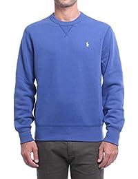 Polo Ralph Lauren LONG SLEEVE KNIT felpa uomo in cotone tinta unita-Blue-S