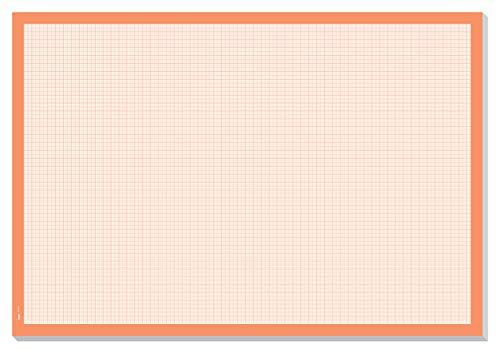 chreibunterlage zum Abreißen, Millimeterpapier-Block, ca. DIN A2, orange, 30 Blatt ()