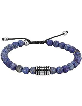 2Jewels India Armband für Herren mit Lapislazuli Edelstahl antialergen 24 cm (längenverstellbar) 231464