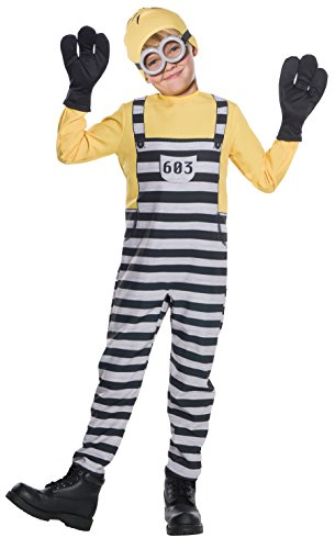 Rubies Despicable Me 3 Jailed Minion Tom Boys Costume M