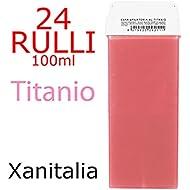 Xanitalia - Depilador cera kit 24 rodillos soluble 100 ml-titanio