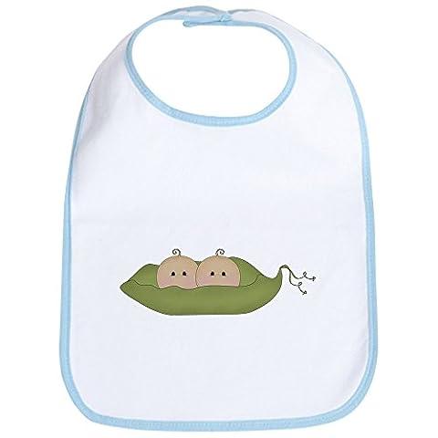 CafePress - Caucasian Twins Bib - Cute Cloth Baby Bib, Toddler Bib