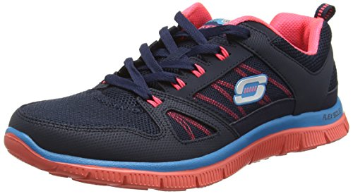 skechers-womens-flex-appeal-spring-fever-trainers-blue-blau-nvcl-size-39-6-uk