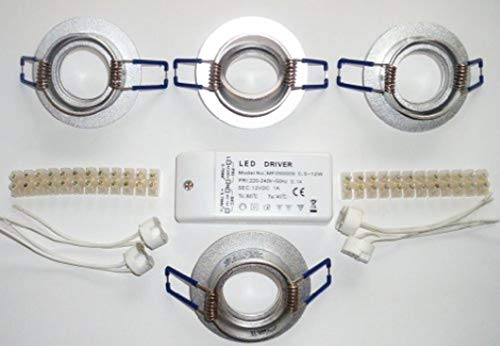 LED de 4-mÖBELEINBAULEUCHTEN-aLUMINIUM--sCHWENKBAR ronde en aLUMINIUM 68 mm