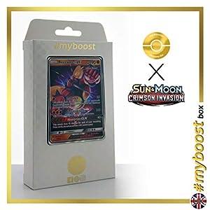 Buzzwole-GX SM69 - #myboost X Sun & Moon 4 Crimson Invasion - Box de 10 cartas Pokémon Inglesas