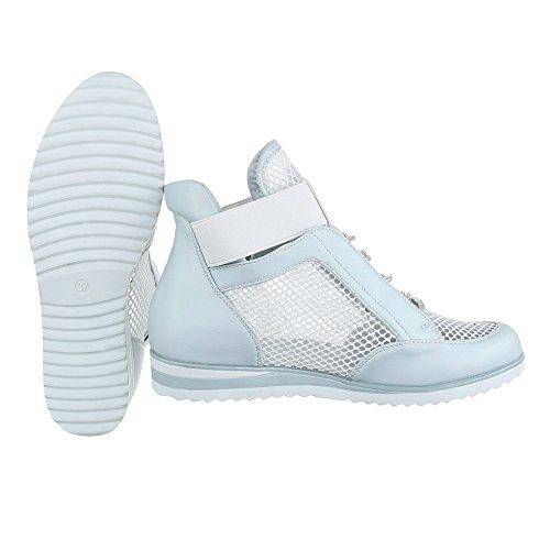Lacci Da Chiaro Stringate Alte Ital design Donna Blu Da Scarpe Sneaker Ginnastica Sneaker Con PaBfwtxxq