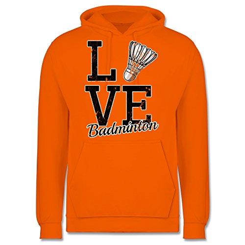 Sonstige Sportarten - Love Badminton - Männer Premium Kapuzenpullover / Hoodie Orange