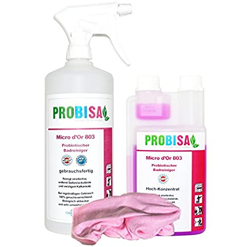 Organic Bathroom Cleaner · Sanitary Cleaner · Toilet Cleaner and efficient odour neutraliser Probisa Micro d'Or 803 (starter set - high-concentrate for 50 litres)