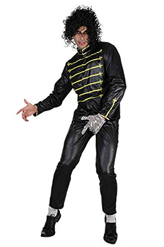 Islander Fashions para Hombre Billy Black Micheal Jackson Disfraz Adults Pop Star Disfraz Disfraz Disfraz One Size