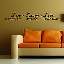 Live Laugh Love adhesivo Insiprational cita pared vinilo letras diciendo palabras Mural casa arte decoración
