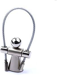 XJYA Cuerda de Salto de Metal para el Villano Llavero de Cuerda de Alambre Regalo