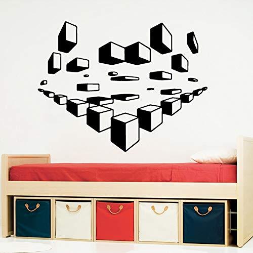 3D Cube Selbstklebende Vinyltapete Kinderzimmer Natur Decor Art Aufkleber Für Hauptdekoration 58 * 44 cm