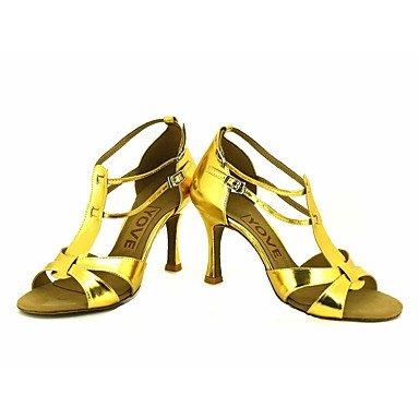 Scarpe da ballo-Personalizzabile-Da donna-Balli latino-americani / Salsa-Tacco su misura-Brillantini-Nero / Blu / Rosso / Argento / Dorato Black