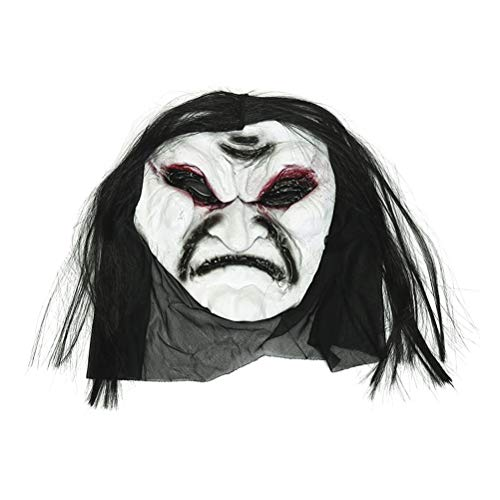 Für Erwachsene Zombie Gesicht Kostüm Ghost - Beaupretty Halloween Grimasse Maske Ghost Scary Maske Zombie Gesicht schmelzen wütend Walking Dead Adult Kostüm Gesicht Party Requisiten